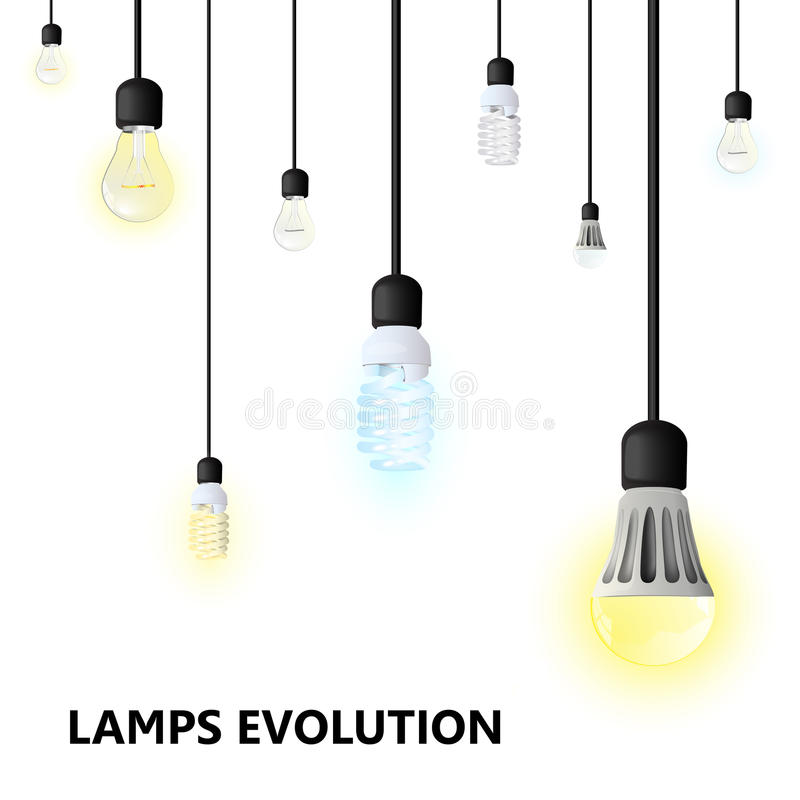 Hanging Lamp Vector: Hanging Light Bulbs On A White Background. Stock Vector