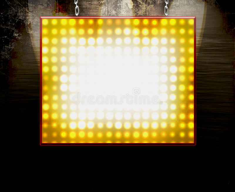 Hanging Marquee Sign stock illustration