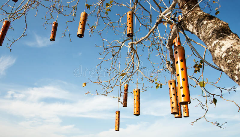 Hanging Mobile On The Tree Stock Photography