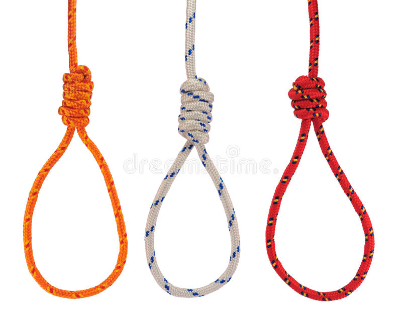Hanging nooses royalty free stock image