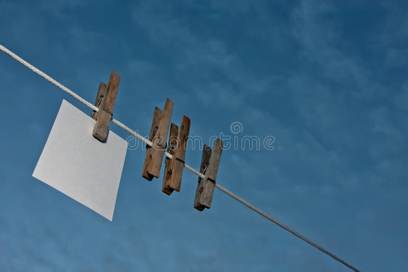 Download Hanging note stock photo. Image of blue, white, write - 24609116