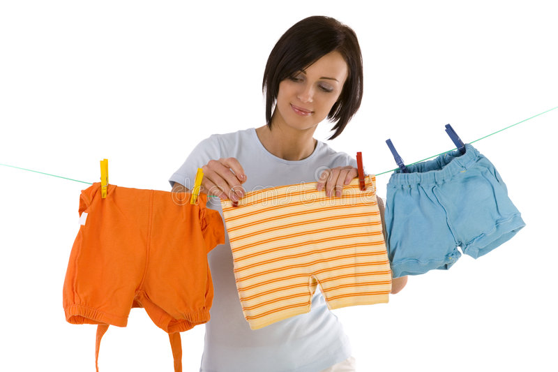 Hanging out washing royalty free stock photo