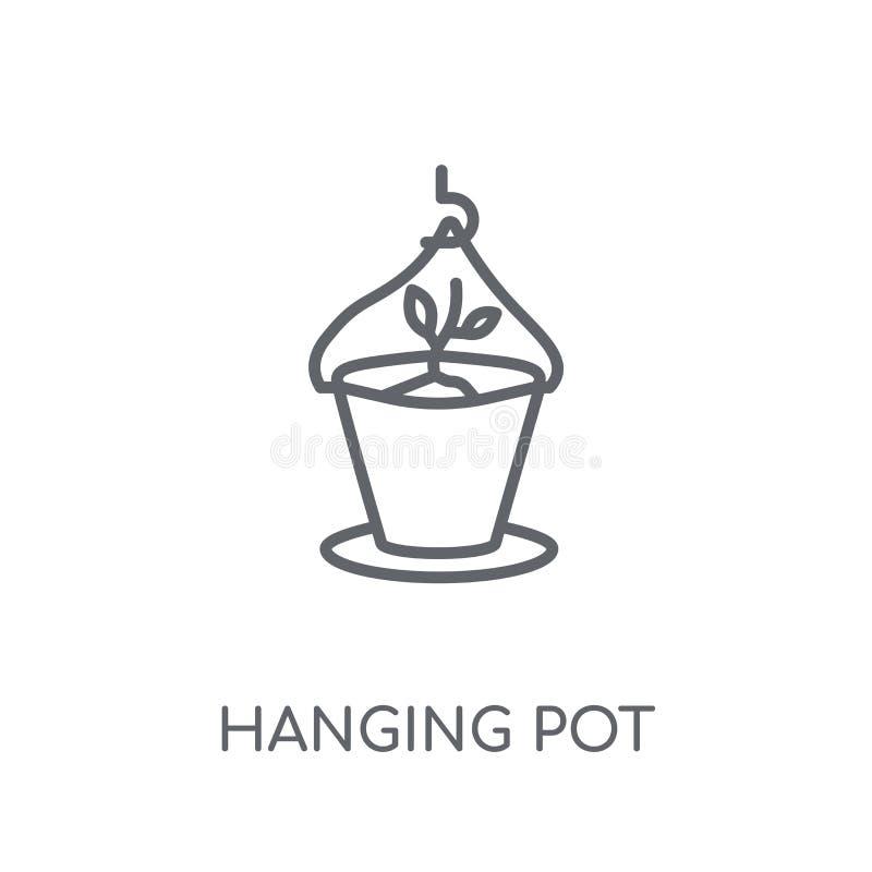 Hanging pot linear icon. Modern outline Hanging pot logo concept royalty free illustration