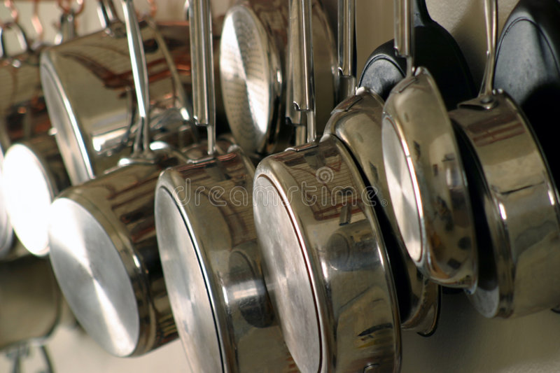 Download Hanging Pots and Pans 4 stock photo. Image of decorative - 647568