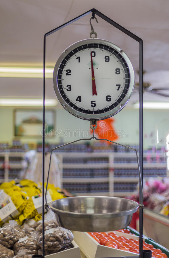 Download Hanging Produce Scale stock photo. Image of store, mechanical - 37720902