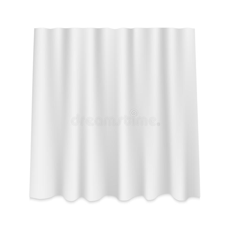 Hanging silk curtain. White Hanging silk curtain isolated stock illustration