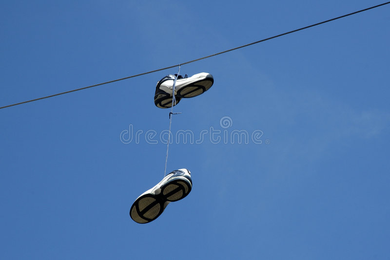 Download Hanging Sneakers stock image. Image of shoes, white, hanging - 116489