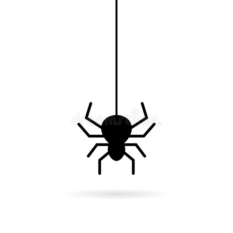 Free Hanging Spider Vector Icon Royalty Free Stock Photos - 95110388