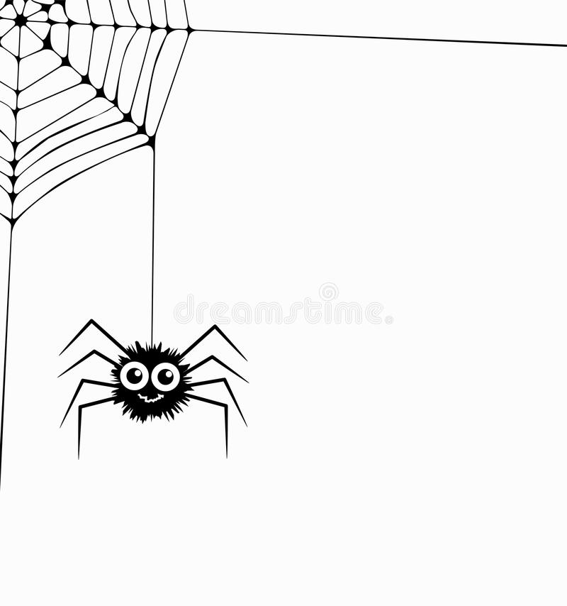 Hanging Spider And Web Network, Vector Stock Vector ...