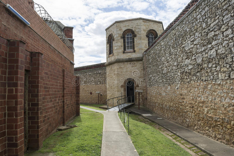 Hanging Tower, Adelaide Gaol, Adelaide, South Australia. Adelaide, South Australia - August 14, 2016: The hanging tower at the old historic Adelaide Gaol royalty free stock photos