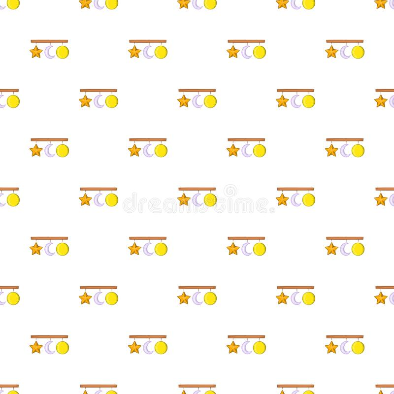 Hanging toys pattern, cartoon style. Hanging toys pattern. Cartoon illustration of hanging toys pattern for web royalty free illustration
