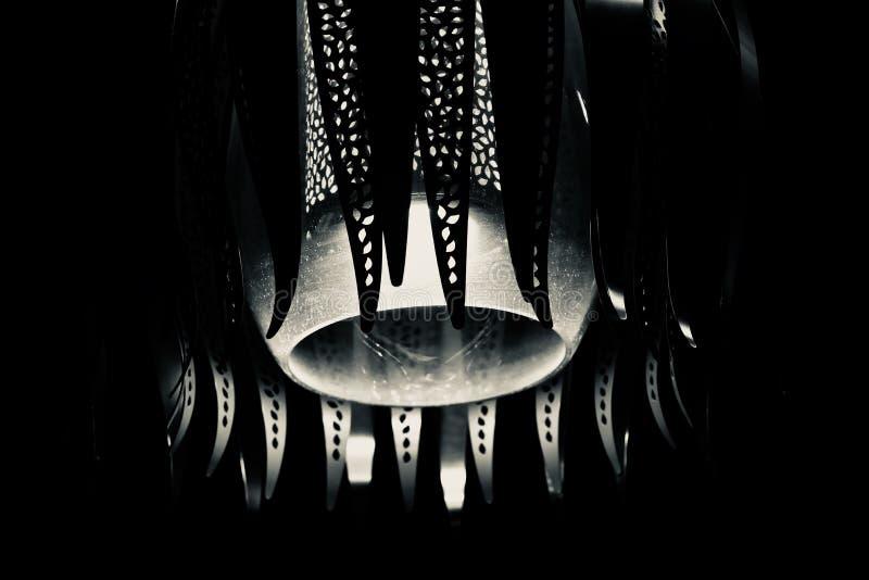 Black and white stylish interior decoration lights stock photo. The hanging unique interior lights isolated unique stock photograph stock photos
