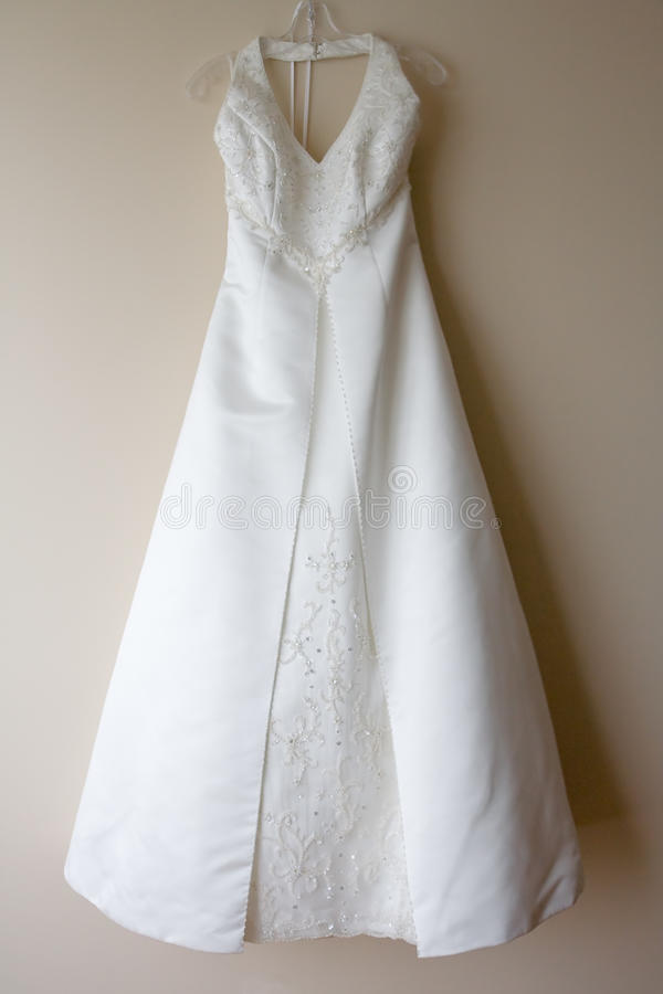 Hanging Wedding Dress. Or gown royalty free stock images