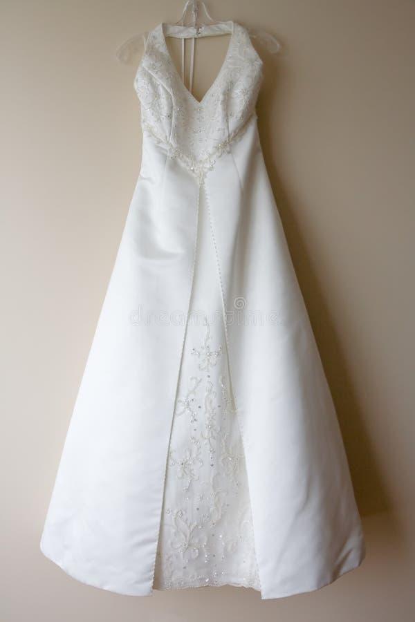 Download Hanging Wedding Dress stock image. Image of fashion, veil - 9674439