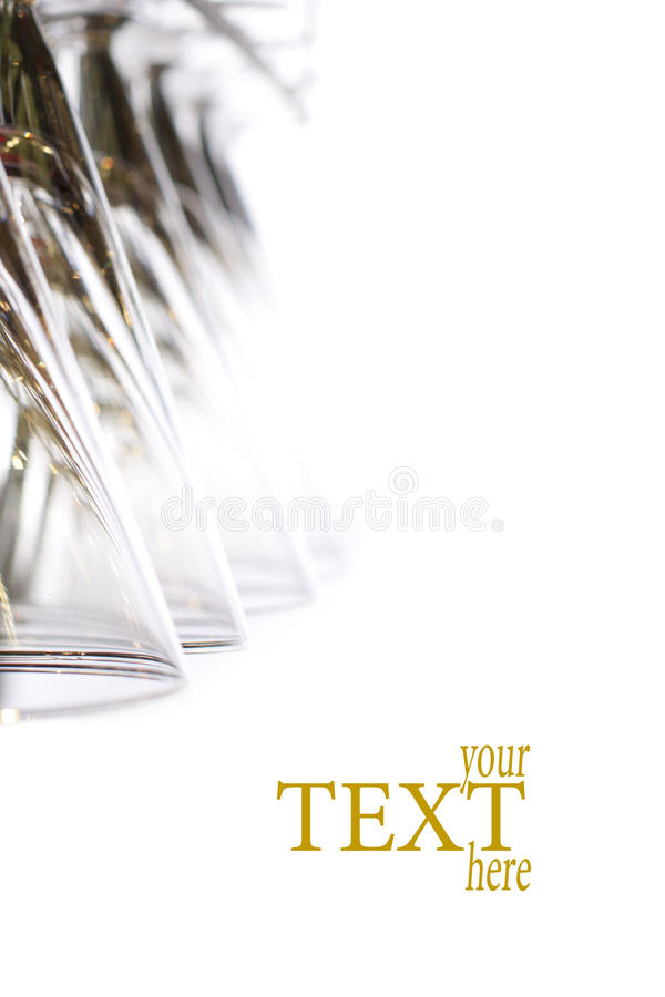 Download Hanging wineglass stock image. Image of line, crystal - 24719157
