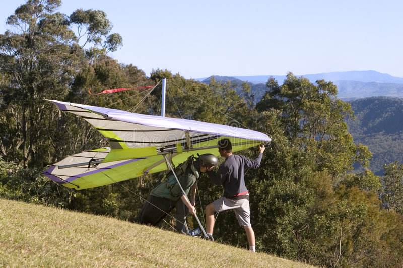 Download Hanglide Takeoff From Mt Tamborine Stock Image - Image: 966971