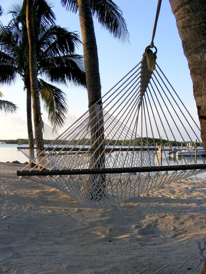 Hangmat in de Sleutels van Florida stock afbeelding