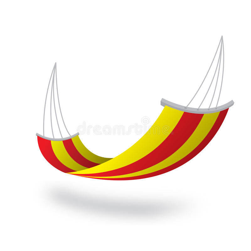 Hangmat kleurrijk geel rood royalty-vrije stock foto