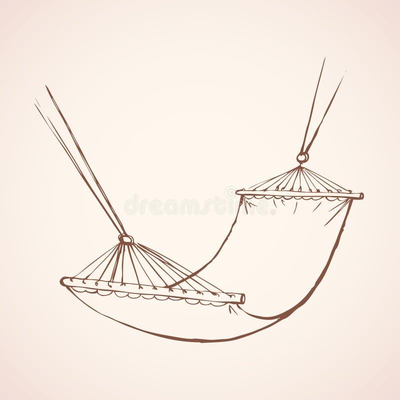 Hangmat Vector tekening stock illustratie