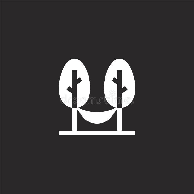 Hangmatpictogram Gevuld hangmatpictogram voor websiteontwerp en mobiel, app ontwikkeling hangmatpictogram van gevulde de zomerinz vector illustratie