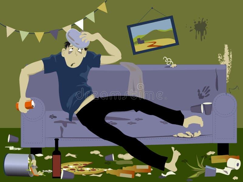 hangover ilustração stock
