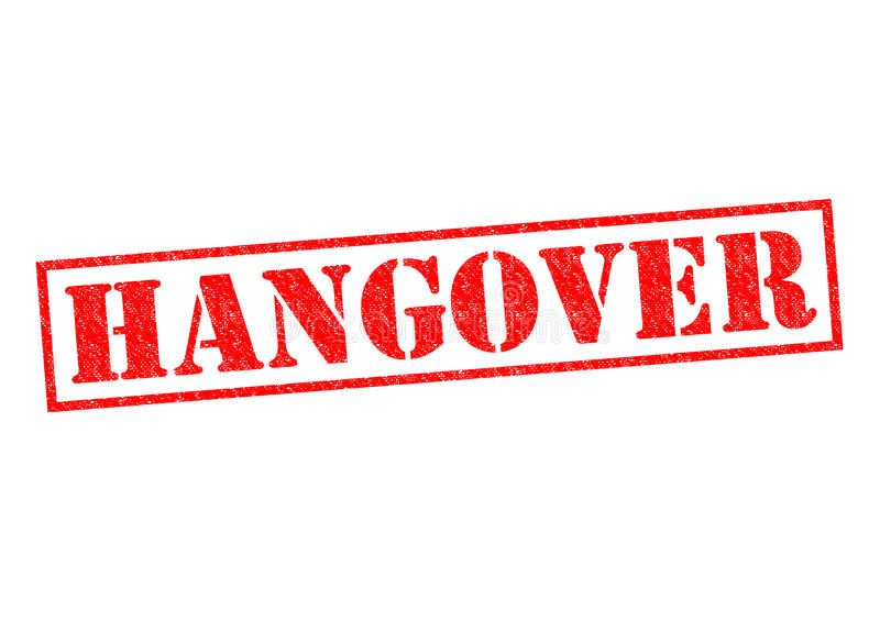 hangover foto de stock