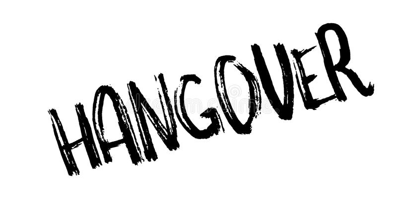 Hangover rubber stamp. Grunge design with dust scratches. Effects can be easily removed for a clean, crisp look. Color is easily changed vector illustration