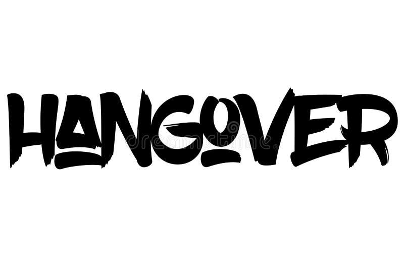 Hangover typographic stamp. Typographic sign, badge or logo stock illustration