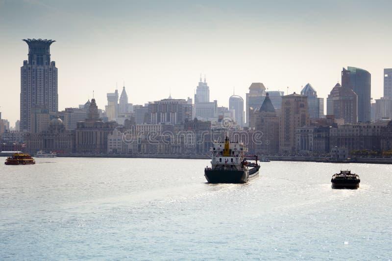 hangpu rzeka Shanghai obraz stock
