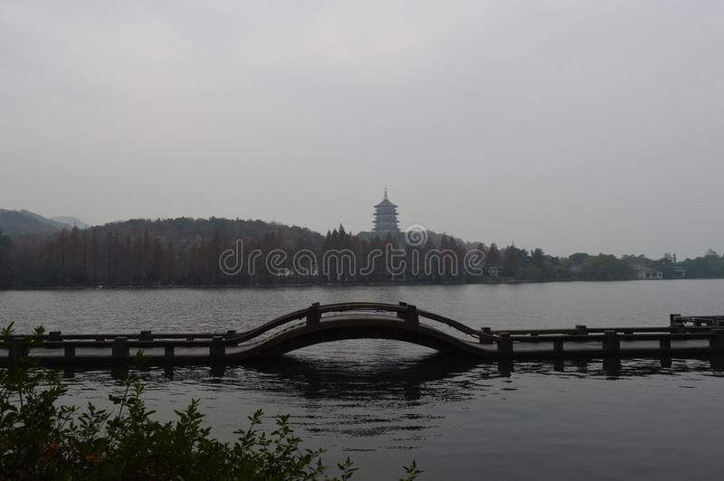 Hangzhou西方湖 免版税库存照片