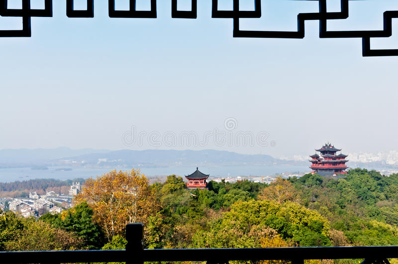 Download Hangzhou Chenghuang Pavilion Scenery Stock Photo - Image: 28803554