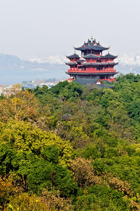 Download Hangzhou Chenghuang Pavilion Scenery Stock Image - Image: 28803609