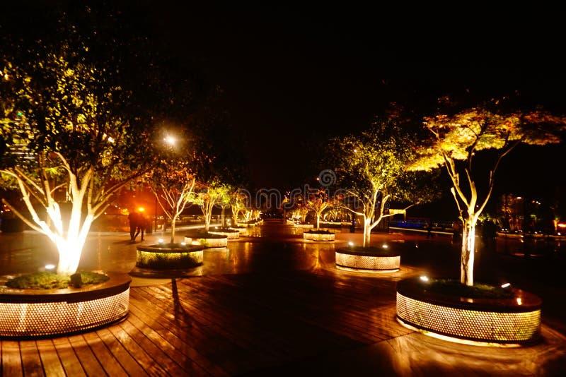 Hangzhou city?s parkerar landskap royaltyfria bilder