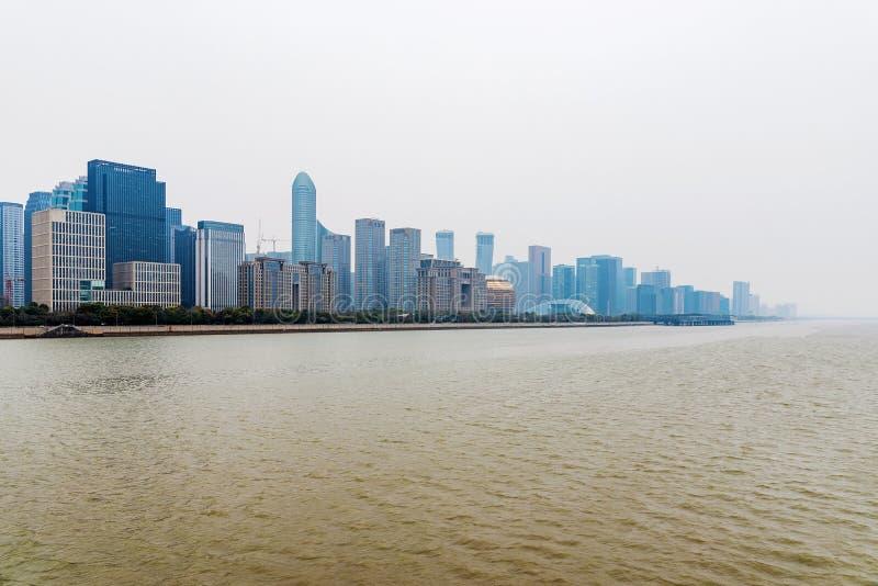 Hangzhou el río Qiantang fotos de archivo libres de regalías