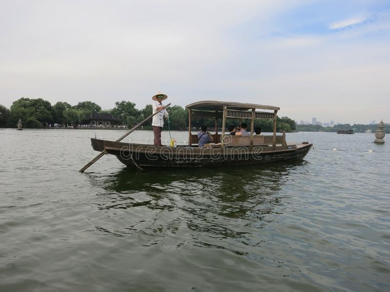 Hangzhou fritidfartyg royaltyfria foton