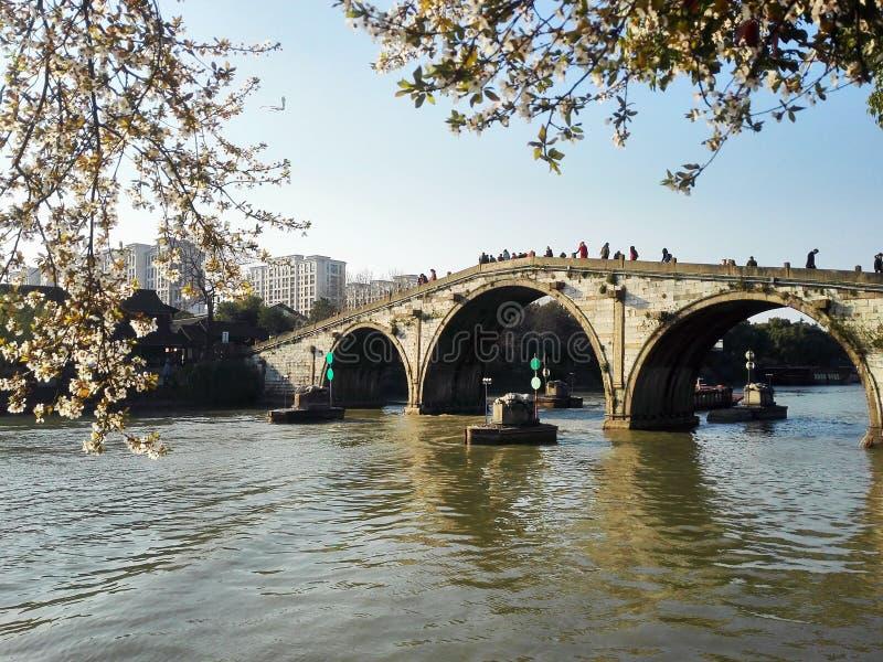 Hangzhou kanał grande fotografia royalty free
