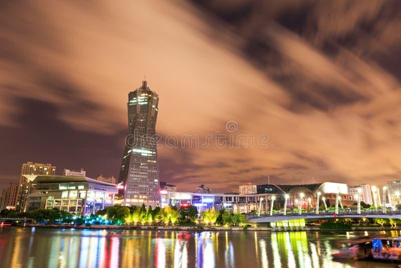 Hangzhou kultury kwadrata punktu zwrotnego zachodni jeziorny budynek obrazy stock