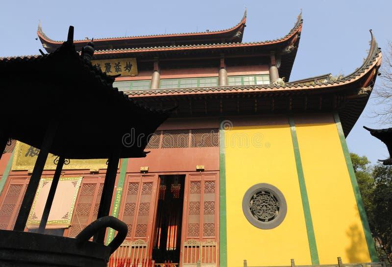 hangzhou lingyin gubernialna Shandong świątynia obrazy royalty free