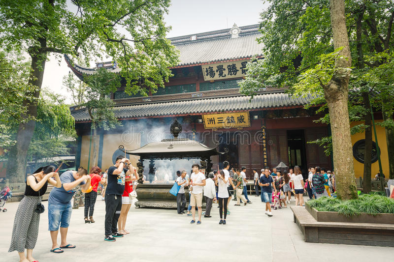 Hangzhou lingyin temple buddhist temple famous, in China stock photography