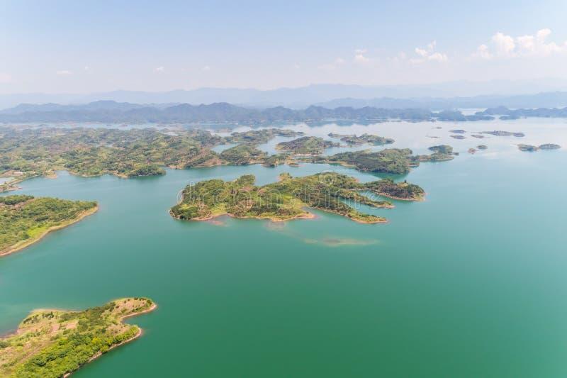 Hangzhou mille laghi dell'isola di estate fotografie stock libere da diritti