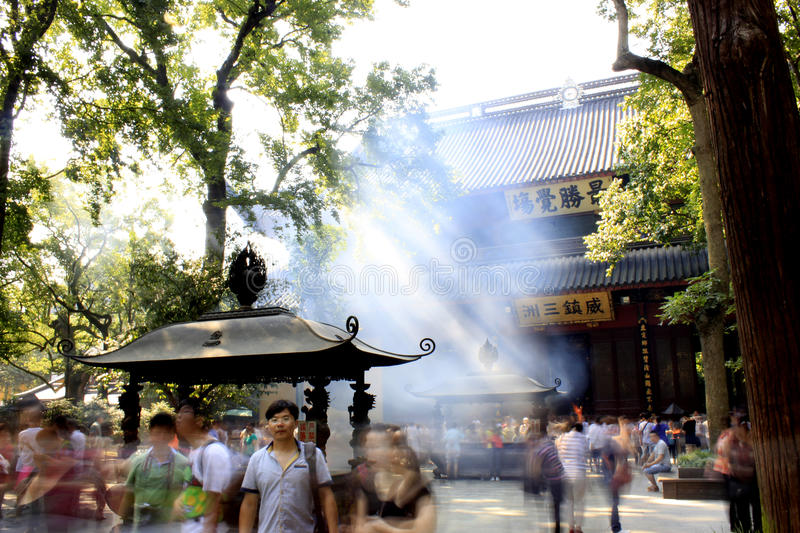 Hangzhou temple: lingyin stock photos