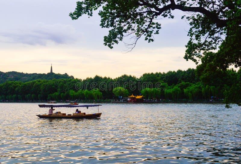 Hangzhou West Lake Sunset royalty free stock image