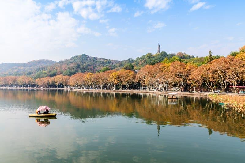 Hangzhou zachodni jeziorny ekologiczny środowisko obrazy royalty free