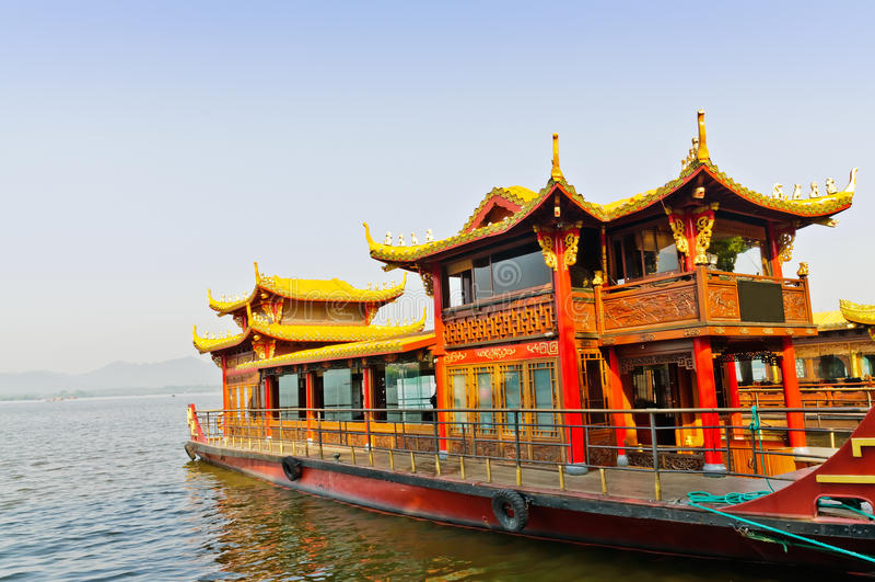 Hangzhou zachodni jeziorny rejs fotografia royalty free