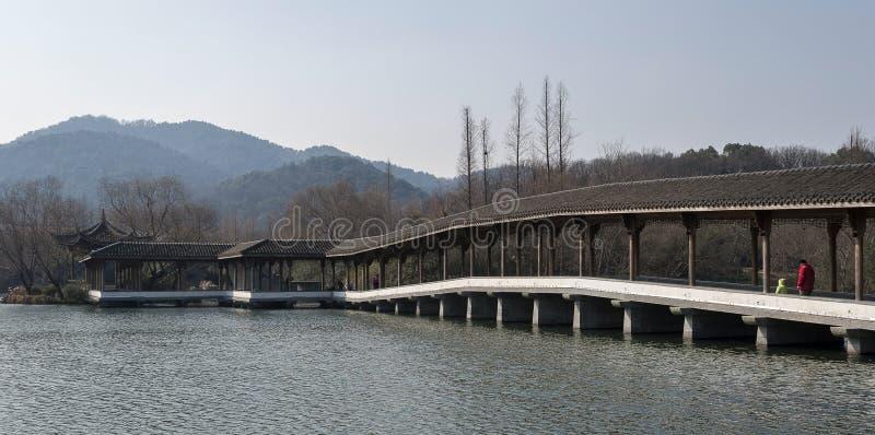 Hangzhou Zachodni Jeziorny Sceniczny teren obrazy stock