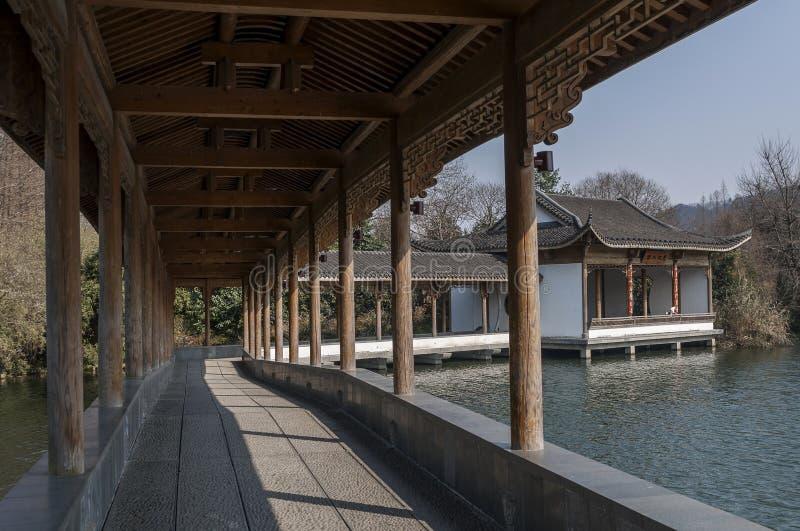 Hangzhou Zachodni Jeziorny Sceniczny teren fotografia royalty free