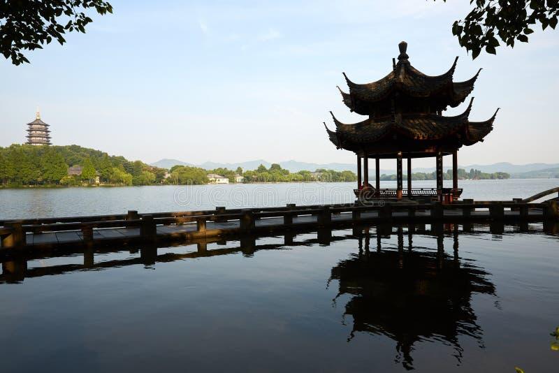 Hangzhou Zachodni jezioro, Zhejiang, Chiny zdjęcie royalty free