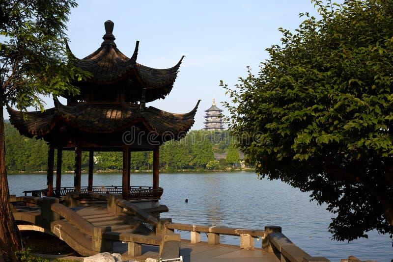 Hangzhou Zachodni jezioro, Zhejiang, Chiny zdjęcie stock