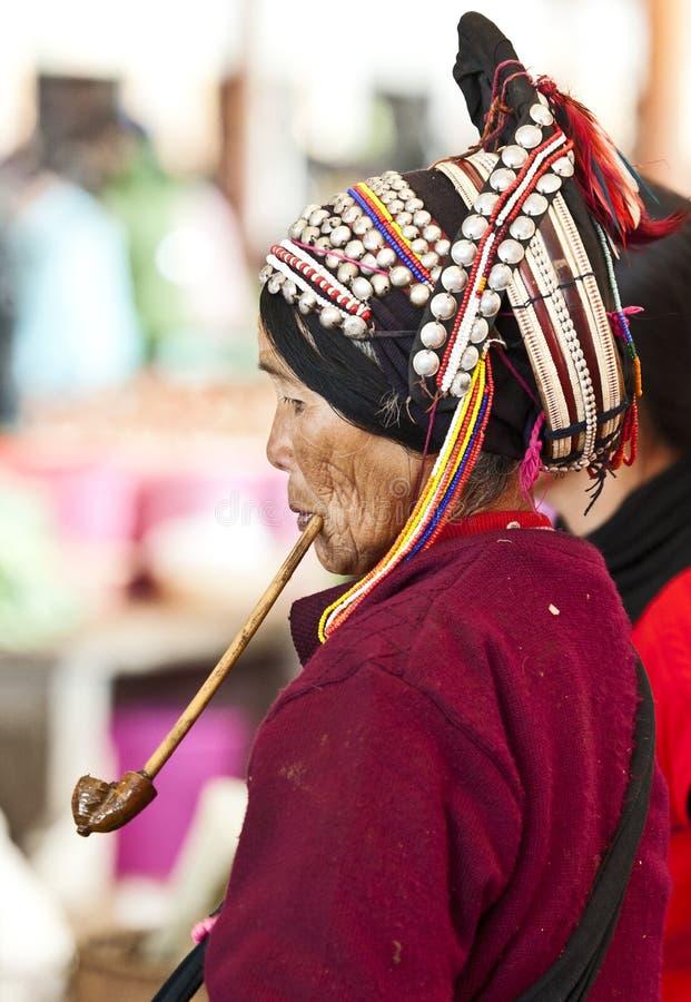 Download Hani Woman Smoking Old Pipe Editorial Image - Image: 20745970