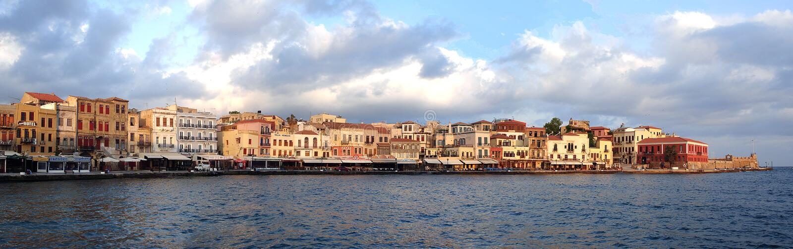 Download Hania stock photo. Image of peaceful, holiday, water, harbour - 5070554
